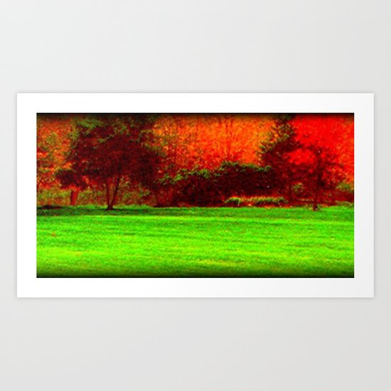 Red Trees two Art Print