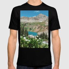 The Blue Lakes of Colorado Mens Fitted Tee MEDIUM Black