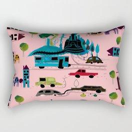 CityView pink Rectangular Pillow