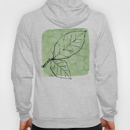 Two Leaves on Green Hoody