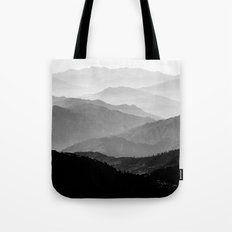 Mountain Mist - Black and White Collection Tote Bag