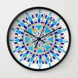 Royal Blue Mandala Wall Clock