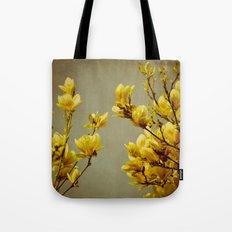 magnolias yellow Tote Bag
