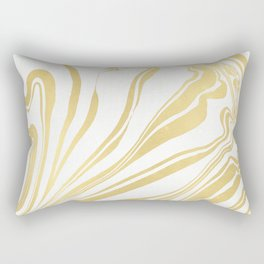 Bronze Copper Gold Rush Marble Ink Swirl Rectangular Pillow