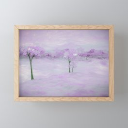 Purple Landscape with Trees Framed Mini Art Print