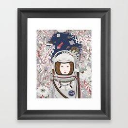 Lady Astronaut Framed Art Print