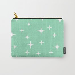 Mid Century Modern Star Pattern 443 Mint Green Carry-All Pouch