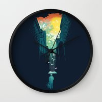 3d Wall Clocks featuring I Want My Blue Sky by Picomodi