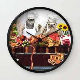 Sloths Wall Clock