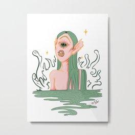 Cyclope Mermaid Beauty Metal Print