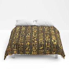Gilded Hieroglyphs Comforters