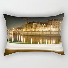 The Canal at Night Rectangular Pillow
