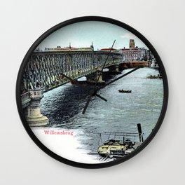 Rotterdam Oude Willemsbrug 1890 Wall Clock