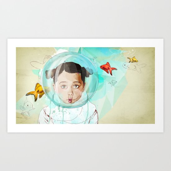 Fish Girl Art Print