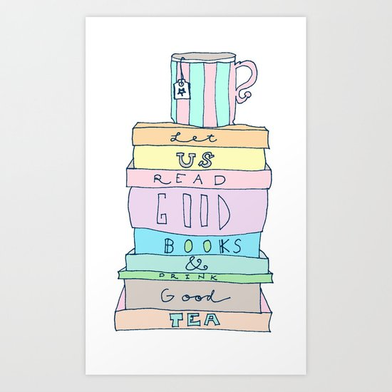 Good Books Art Print