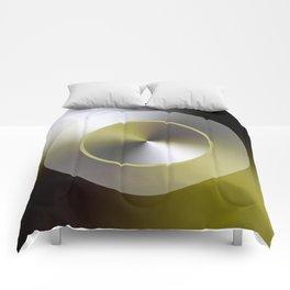 Serene Simple Hub Cap in Sepia Comforters