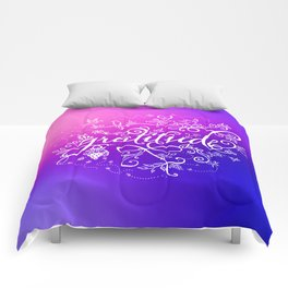 Gratitude Purply Pink Comforters
