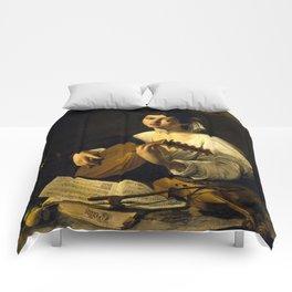 """Michelangelo Merisi da Caravaggio """"The Lute Player"""" Comforters"""