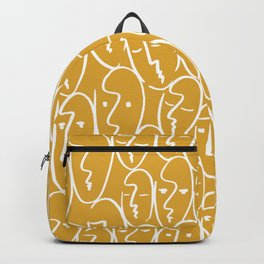 faces / mustard Backpack
