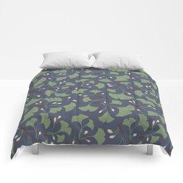 Ginko Leaves Pattern Comforters