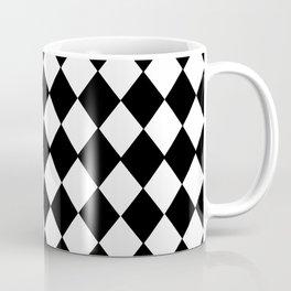 HARLEQUIN BLACK AND WHITE PATTERN #2 Coffee Mug