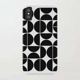 Mid Century Modern Geometric 04 Black iPhone Case