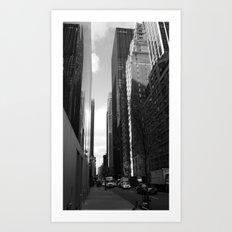 Reflection of the street Art Print