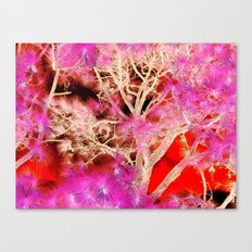 Though the clutter Canvas Print