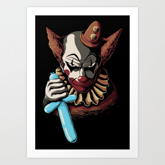 Clowns are Evil Art Print