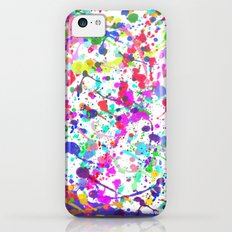 Paint Splatter 1 - White iPhone 5c Slim Case