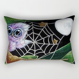 HALLOWEEN TINY VIOLET OWL - A WEB FROM THE MOON Rectangular Pillow