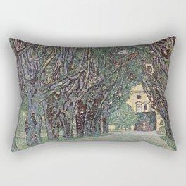 Gustav Klimt - Avenue Of Schloss Kammer Park Rectangular Pillow