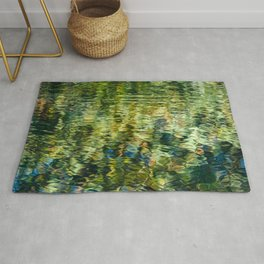 Reflections in a Rippling Pond Rug