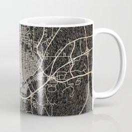 MERIDIAN map Mississippi Ink lines 2 Coffee Mug