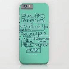 2/52: Proverbs 3:3 print iPhone 6s Slim Case