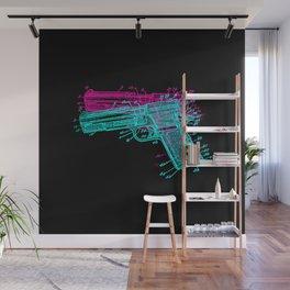 Gun Diagram Wall Mural