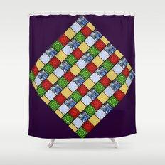 Five Elements Banner Shower Curtain