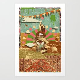 AFTERNOON PSYCHEDELIA Art Print