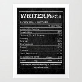Writer Writer Facts Art Print