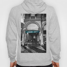 Black and White Bologna Street Photography Vector Green Hoody