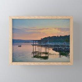 magic on the water Framed Mini Art Print