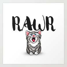 Little Pal, Big Roar Art Print