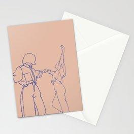 girls dancing line art Stationery Cards