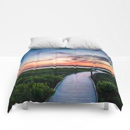 Chincoteague Island Sunset Comforters