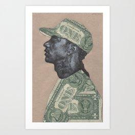 HUSSLE Art Print