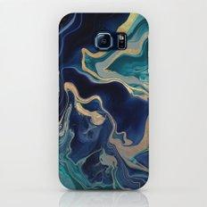 DRAMAQUEEN - GOLD INDIGO MARBLE Slim Case Galaxy S8