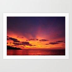 Sunset. Art Print