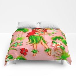 Redhead Hula Dolly Comforters