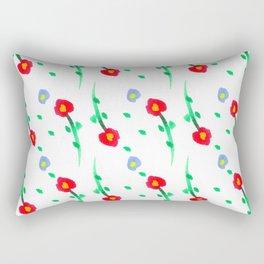 Doodle: flowers pattern Rectangular Pillow