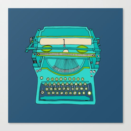 Typewriter Number Five Canvas Print